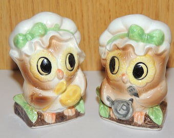 OWL made in Japan Salt and Pepper Shakers