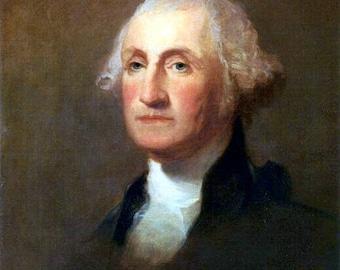 "George Washington by Thomas Sully,  1783-1872, US Presidents1st american president,  8x10"" premium poster print.  president portrait"