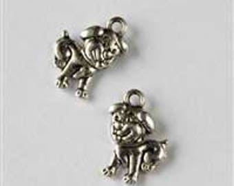 Silver Puppy Dog Charm - Bag of 10
