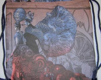 Steampunk Evening Stroll Backpack/tote Custom Print