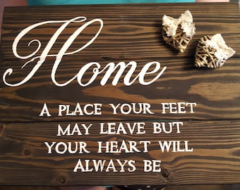 Home Decor Sign with Heart Accents