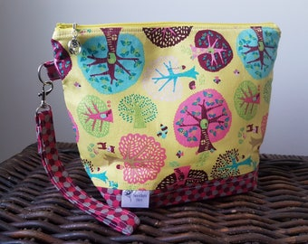 """Knitting Project Bag - Medium """"Colorful Forest"""""""