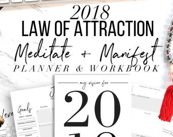 2018 Law Of Attraction Meditate + Manifest Planner & Workbook