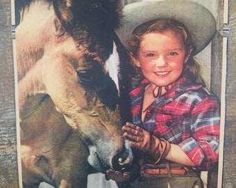 Little Cowgirl - Young Girl with Horse
