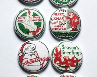Vintage Christmas Milk Caps Flair