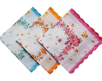SALE - For your tears of joy wedding handkerchiefs lot of 10 - Hankies set various colors - New, Vintage look favors.