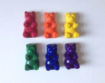 Set of 6  Gummy Bear Crayons