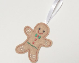 Machine Embroidery Design   gingerbread man felt ornament pattern in the hoop ITH  #262