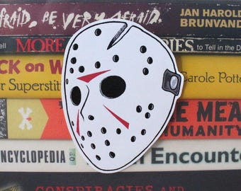 Jason Voorhees Friday the 13th Hockey Mask Vinyl Sticker