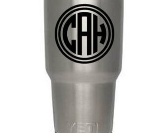 Monogram for your Yeti, Laptop, Bumper Sticker Personalize Your Stuff, Leave Your Mark On All Your Belongings, Vinyl, Waterproof, Safe