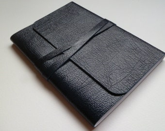 Leather Journal Leather Notebook Travel Journal Leather Book. Navy Blue Subtle Two Toned Grained Leather.