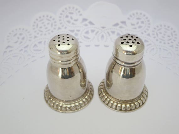 SALT & PEPPER SHAKERS Silverware Dressing table Birks