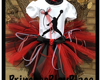 Michael jordan inspired Tutu Outfit Set Original Newborn Girls 0 3 6 9 12 18 Months 2T-7T adult avaiblalbe jumping man Costume