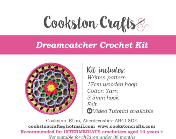 Crochet Kit - Dreamcatcher DIY kit with detailed video tutorial