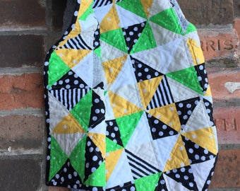 Modern baby  quilt - crib quilt- baby boy quilt- triangle quilt- baby shower gift- Christmas gift
