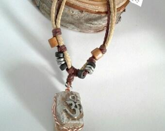 Petrified Wood Root Chakra Necklace