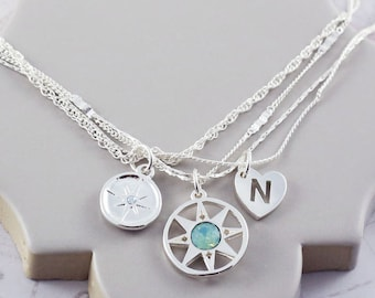 Compass Necklace   Multistrand Necklace   Positive Vibes   Compass Necklace   North Star Necklace   Friendship Necklace   Wish Necklace  S