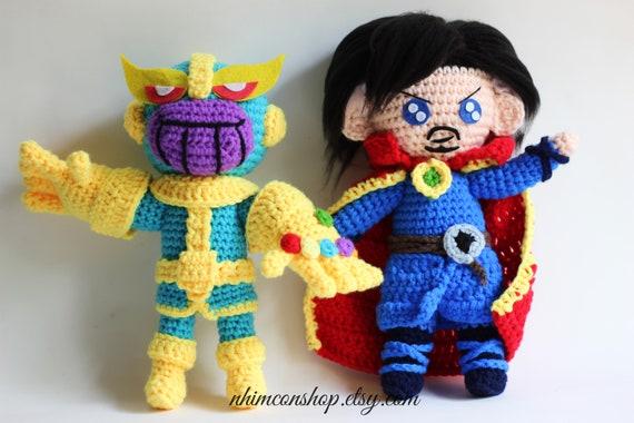 Amigurumi Chibi Doll : Thanos dr strange chibi plushie amigurumi stuffed toy doll