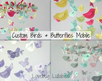DESIGN Your Own BUTTERFLIES & BIRDS Mobile