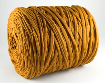 Copper Tshirt Yarn, 120m, Copper Yarn, Fabric Yarn, Tshirt Yarn, Textile Yarn, Zpagetti, Trapillo, Recycled Yarn, Ribbon Yarn