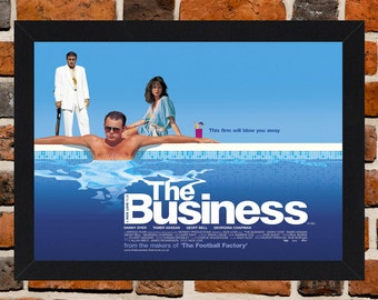 Framed The Business Danny Dyer Cult British Crime Movie / Film Poster A3 Size Mounted In Black Or White Frame