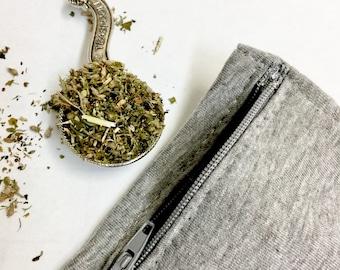 Reusable Catnip Pouch, catnip pouch, refillable catnip pouch, pocket with zipper.