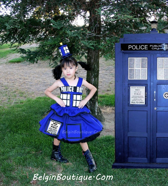 sc 1 st  Etsy & Pageant OOC Tardis Dr Who Tardis Costume Cosplay dress Casual