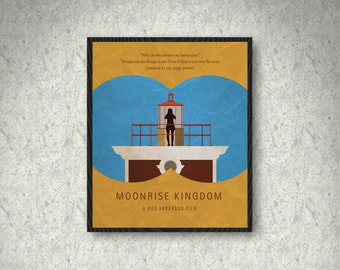 Moonrise Kingdom Movie Poster Print, Home Decor, Print Art Poster