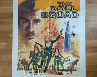 The Doll Squad - Movie Poster - 27x41 inches - Film Poster - Cult Film - Exploitation Film