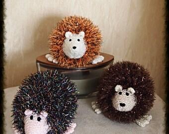 Hand knitted hedgehog