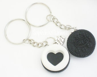 Oreo BFF Keychain with a Made with Love charm