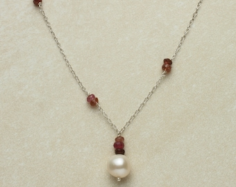 Tourmaline & Pearl Necklace