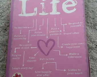 Pink Handmade Life Journal With Heart