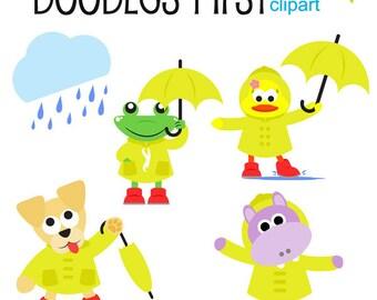 rainy day clipart etsy rh etsy com rainy day clip art images rainy day clothes clipart
