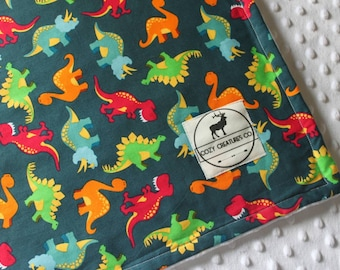 Multicolored Dinosaurs Baby Blanket