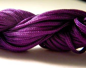 12 M Fil macrame Shamballa-purple - AL 2 2 mm nylon cord