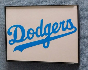 Los Angeles Dodgers Wall Art Hand Made