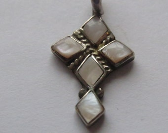 Sterling Silver  MOP  Pendant or Cross