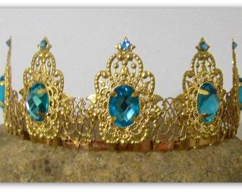 Medieval Crown - Renaissance Crown, Medieval Jewelry, Crown, Tudor Crown, Tiara, Catherine of Aragon, Tudor Replica, Anne Boleyn