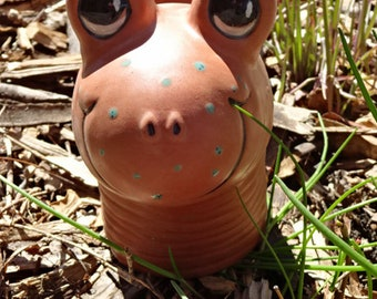 Terracotta Garden Worm Large with jade freckles