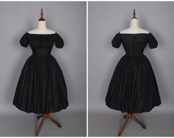 Loretta Dress in Solid Raven Black