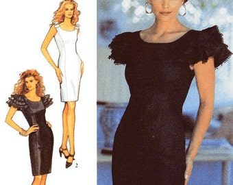 Style Dress Pattern 2276 - Misses' Fitted Sheath Dress with Sleeve or Shoulder Strap Details - SZ 6/8/10/12/14/16