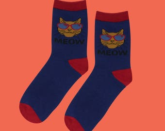 FREE SHIPPING Bad cat unisex socks