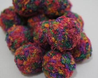 Felt Beads, Extra large Beads, Purple shades Beads, Felt Balls Felt Beads Felted Balls Wool Beads, Round