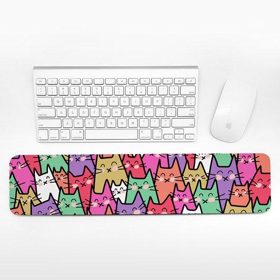 Cat Keyboard Wrist Rest Pad, Colorful Wrist Keyboard Rest, Cats Wrist Pad for Keyboard Pad, Funny Cute Desk Cubicle Decor for Women Men