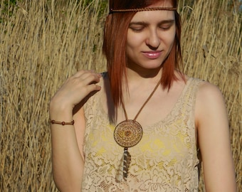 Native American Jewelry, Ethnic Jewelry Set, Dreamcatcher Jewelry, Boho Jewelry, Native American Style, Indian necklace, Feather Headpiece