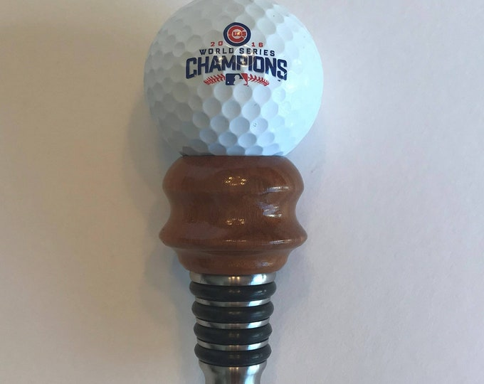 Chicago Cubs 2016 World Series Champions Golfball Bottle Stopper