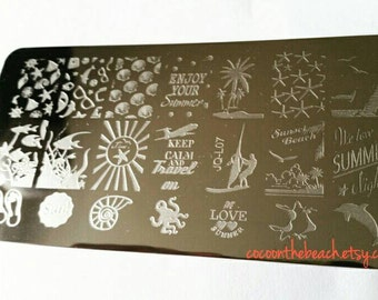 Nail stamping plate for stamping nail art- JQ-L07