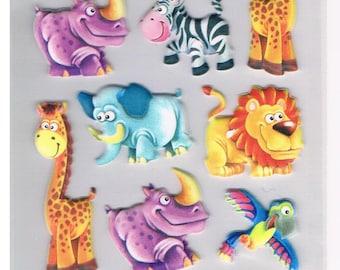 Stickers, Animals / Africa, 1 sheet  (1320)