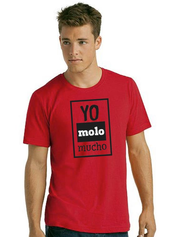 Round neck men short sleeve t-shirt YO MOLO MUCHO